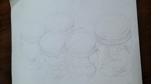 Sketch of cans